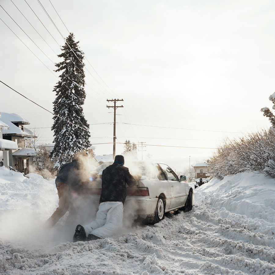 Picture of Car Stuck After A Blizzard, December 2013