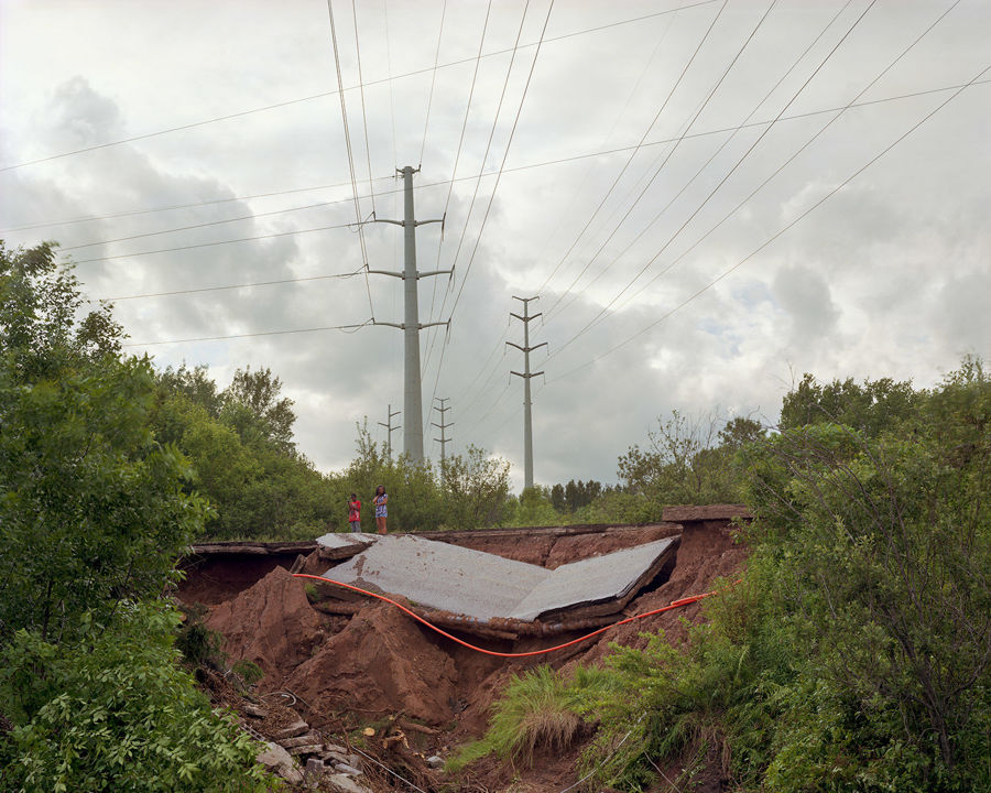 Picture of Westgate Blvd Collapse, Duluth, Minnesota, June 2012
