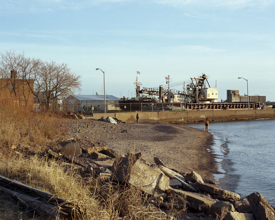Picture of Beach, Park Point, Duluth, Minnesota, April 2012