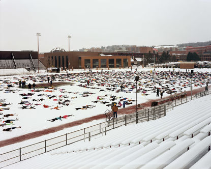 Picture of World Record Attempt At Snow Angels. 7086 People Short, Duluth, Minnesota, February 2013