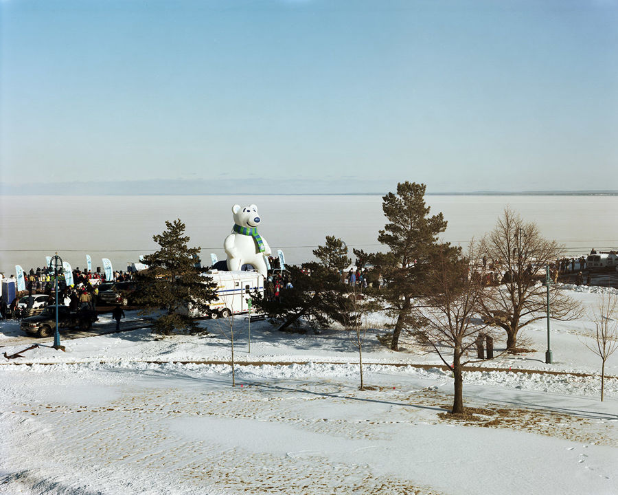 Picture of Giant Inflatable Bear, Duluth, Minnesota, February 2013