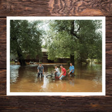 Picture of Bikers In Floodwater - Museum Edition