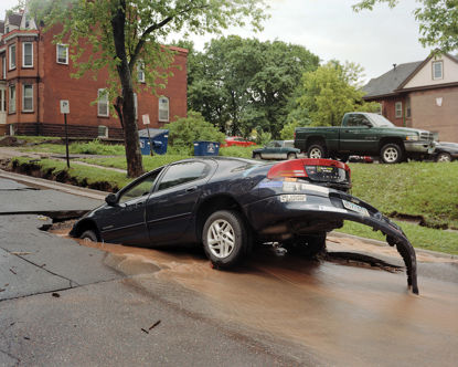 Picture of 7th Ave Sinkhole, Duluth, Minnesota, June 2012