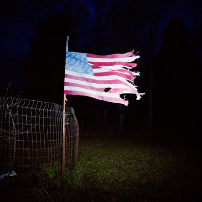 Picture of Tattered American Flag, November 2013