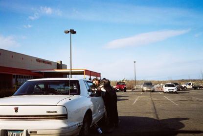 Picture of Woman Locked out of Her Car, April 2011