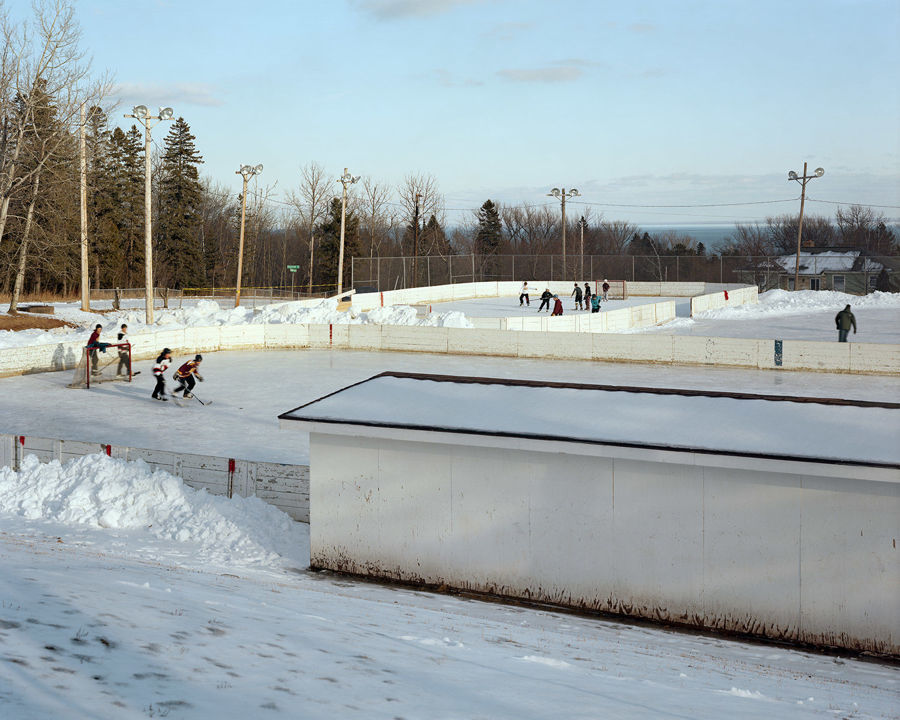 Picture of Hockey Rinks, Duluth, Minnesota, January 2012