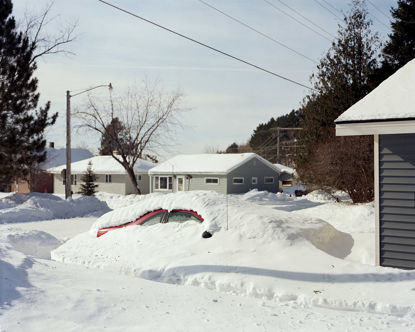 Picture of Buried Car, Biwabik, Minnesota, February 2014