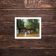 Picture of Bikers In Floodwater - Everyday Print