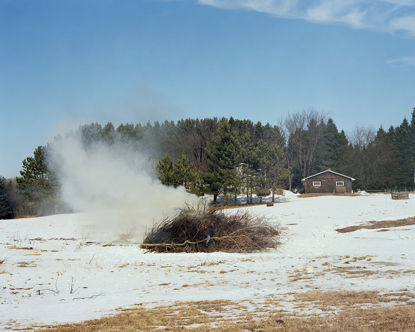 Picture of Burning Brush, Esko, Minnesota, March 2012