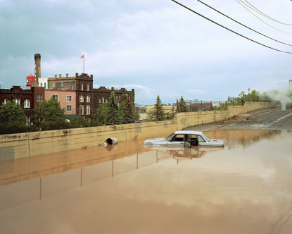 Picture of Flooded Volvo, Duluth, Minnesota, June 2012